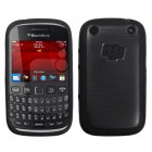 Blackberry 9310 Curve Horizontal Stripes Transparent Smoke/Solid BlackGummy Cover