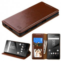 Sony Xperia Z5 Brown Wallet with Tray