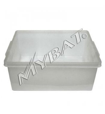 Plastic Storage Box-2# (L=17.25*W=14.00*D=7.25 inch) (Clear)(Used)