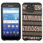 Kyocera Wave / Hydro Air Zebra Skin-Leopard Skin/Black Advanced Armor Case