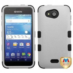 Kyocera Wave / Hydro Air Natural Gray/Black Hybrid Case