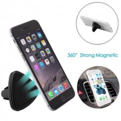 Black Magnetic Car Air Vent Mount Holder (Triangle Shape)