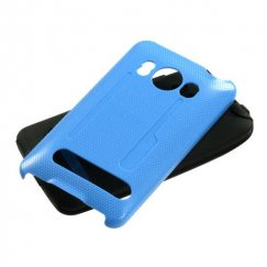 HTC EVO 4G Solid Baby Blue/Black Fusion Case
