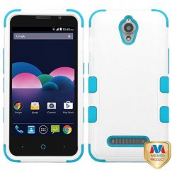 ZTE Obsidian Natural Ivory White/Tropical Teal Hybrid Case