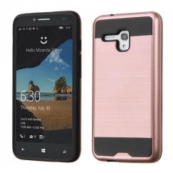 Alcatel One Touch Fierce XL Rose Gold/Black Brushed Hybrid Case