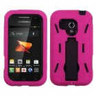 Samsung Galaxy Rush Black/Hot Pink Symbiosis Stand Case