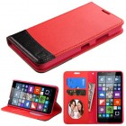 Nokia Lumia 640 Red/Black wallet with Card Slot