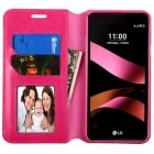 LG X Style / Tribute HD Hot Pink Wallet with Tray