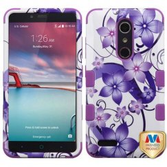 ZTE Grand X Max 2 Purple Hibiscus Flower Romance/Electric Purple Hybrid Case