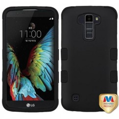 LG K10 Rubberized Black/Black Hybrid Case