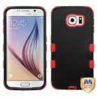 Samsung Galaxy S6 Natural Black/Red Hybrid Case