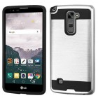 LG LG G Stylo 2 Plus Silver/Black Brushed Hybrid Protector Cover