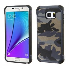 Samsung Galaxy Note 5 Camouflage Navy Blue Backing/Black Astronoot Case