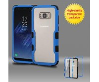Samsung Galaxy S8 Plus Natural Dark Blue Frame????? PC Back/Black Vivid Hybrid Protector Cover