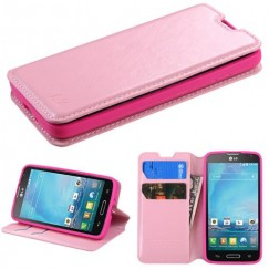 LG Optimus L90 Pink Wallet with Tray