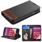 LG Tribute Black/Brown wallet with Card Slot