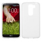 LG G2 Mini Semi Transparent White Candy Skin Cover - Rubberized