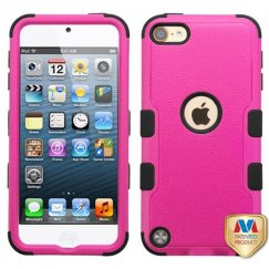 Apple iPod Touch (6th Generation) Natural Hot Pink/Black Hybrid Case