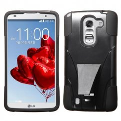 LG G Pro 2 Black Inverse Advanced Armor Stand Case