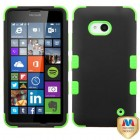 Nokia Lumia 640 Rubberized Black/Electric Green Hybrid Case