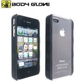 Apple iPhone 4/4s Body Glove Fringe Snap On Case - Black/Clear