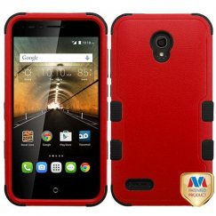 Alcatel One Touch Conquest Natural Red/Black Hybrid Case