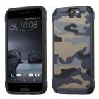 HTC One A9 Camouflage Navy Blue Backing/Black Astronoot Case