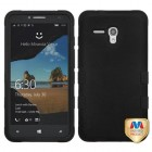 Alcatel One Touch Fierce XL Rubberized Black/Black Hybrid Phone Protector Cover