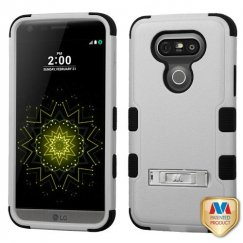 LG G5 Natural Gray/Black Hybrid Case with Stand