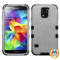 Samsung Galaxy S5 Rubberized Gray/Black Hybrid Case