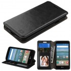 LG Optimus Zone 3 / Spree Black Wallet with Tray