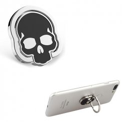 Stand-Silver Skullcap (Black) Metal Ring Stand