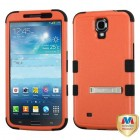 Samsung Galaxy Mega Natural Orange/Black Hybrid Phone Protector Cover (with Stand)