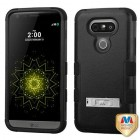 LG G5 Natural Black/Black Hybrid Phone Protector Cover (with Stand)