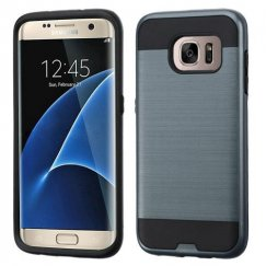 Samsung Galaxy S7 Edge Ink Blue/Black Brushed Hybrid Case