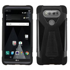 LG V20 Black Inverse Advanced Armor Stand Case