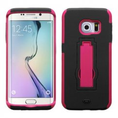 Samsung Galaxy S6 Edge Hot Pink/Black Symbiosis Stand Case