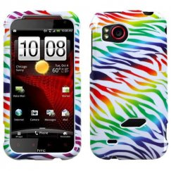HTC Rezound Colorful Zebra Case