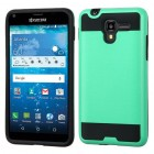 Kyocera Hydro Reach / Hydro View Teal Green/Black Brushed Hybrid Case