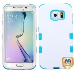 Samsung Galaxy S6 Edge Ivory White/Tropical Teal Hybrid Case