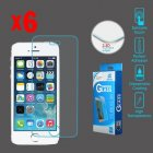 Apple iPhone 5/5s Tempered Glass Screen Protector (2.5D)(6-pack)