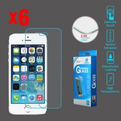 Apple iPhone 5 Tempered Glass Screen Protector (2.5D)(6-pack)