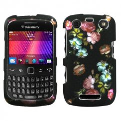 Blackberry 9360 Curve Lizzo Blooming Flowers 2D Silver Case