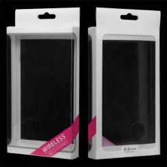 (20PCS)Plastic Case Packing with Hot Pink Ribbon (L=6.85*W=4.06*D=0.83 inch)(Brand Neutral)
