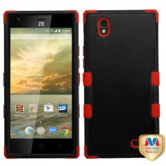 ZTE Warp Elite Natural Black/Red Hybrid Case