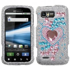 Motorola Atrix 2 Star Track Diamante Case