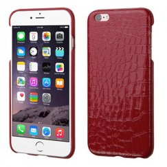 Apple iPhone 6 Plus Red Crocodile Skin Executive Back Case