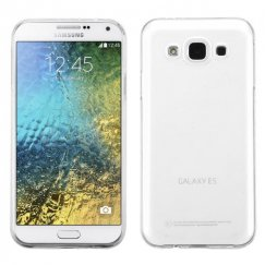 Samsung Galaxy E5 Glossy Transparent Clear Candy Skin Cover