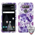 LG V20 Purple Hibiscus Flower Romance/Electric Purple Hybrid Case