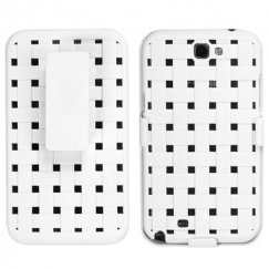 Samsung Galaxy Note 2 Rubberized Solid Ivory White Hybrid Holste - Weave Texture
